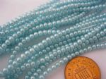 Glass Pearl Beads Aqua 3mm